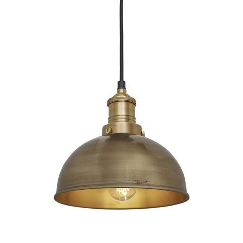 "8"" Brass Ceiling Light"