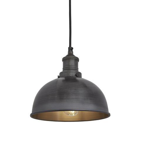 "8"" Dark Metal Ceiling Light"