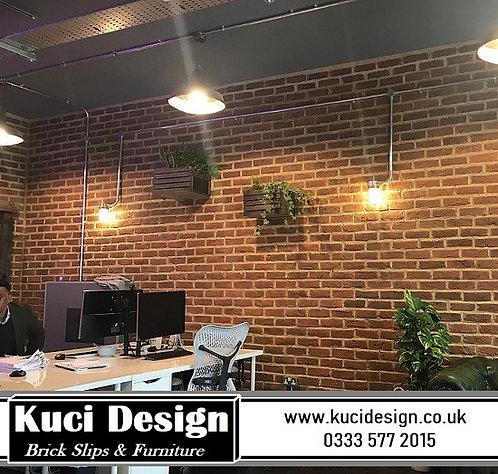 Commercial premises using slip bricks