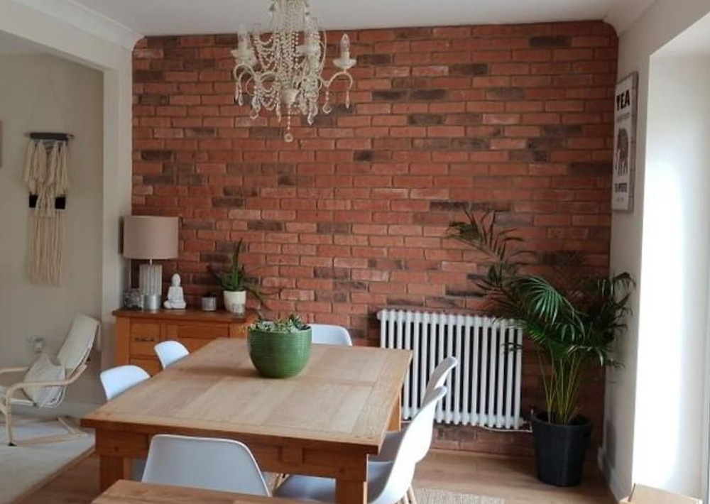 Old Watermill Brick Slip Dining Room Feature wall