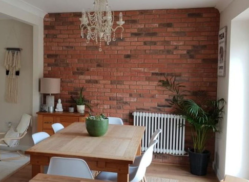 Dining Room Brick Slip Feature Wall