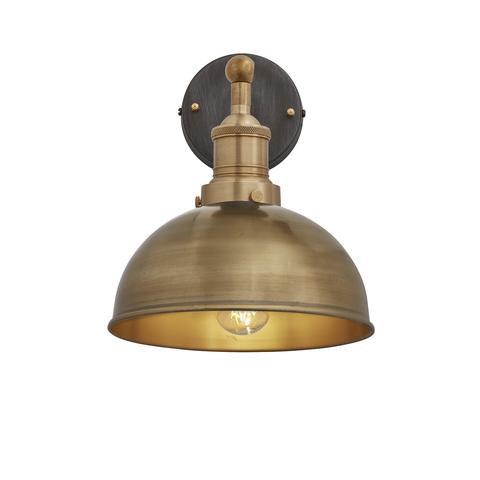 """8"""" Dome Wall Light - Brass"""