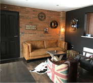Old Watermill Brick Slip Kitchen Feature Wall