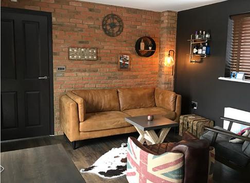 Old Watermill Brick Slip Kitchen Feature Wall
