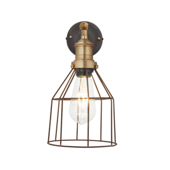 Rusty Cage Wall Light - 6 Inch