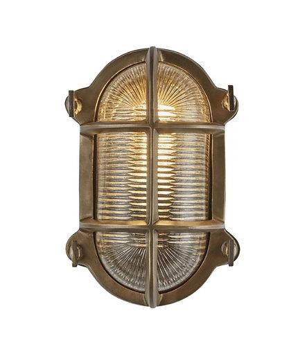 Brass Bulkhead - 6 inch oval