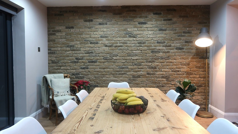 London Town Brick Slip Feature Wall