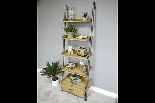 Industrial Ladder Shelves and Drawer