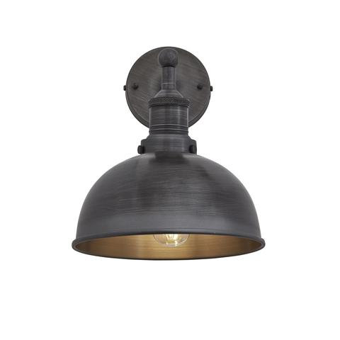 """8"""" Dome Wall Light - Dark Pewter"""