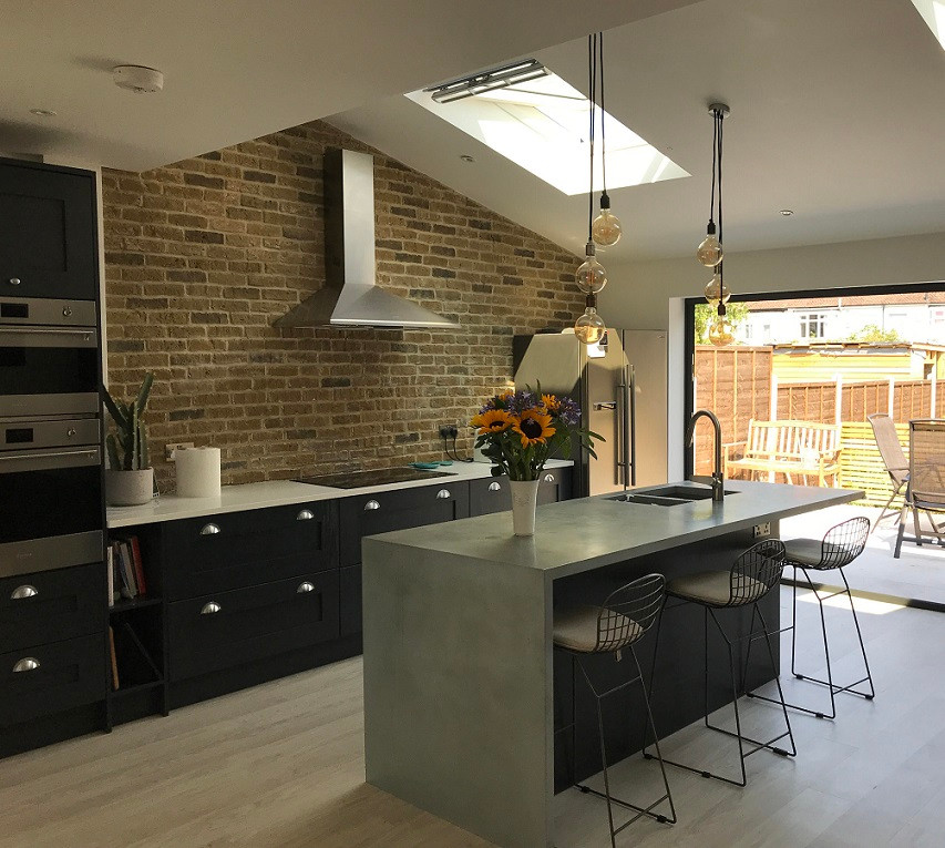 London Town Brick Slip Kitchen Feature Wall