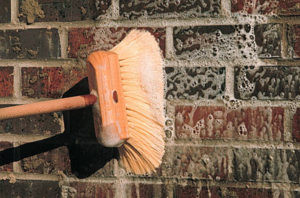 How do I clean brick slips?