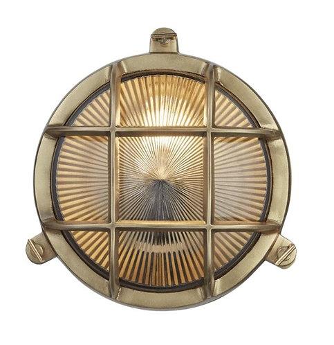 Brass Bulkhead - 8 inch round