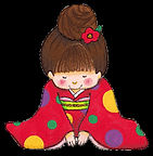 illustration of a girl taking a sincere bow