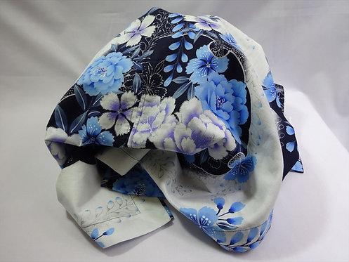 [170cm x 60cm] Blue/White Peony & Cherry-blossom