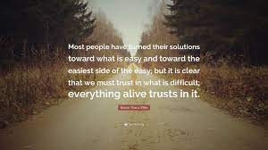 Trust in What is Difficult