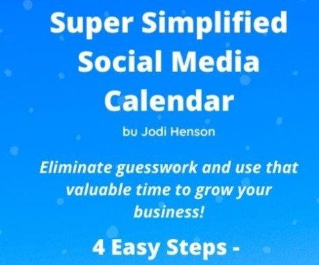 Super Simplified Social Media Calendar