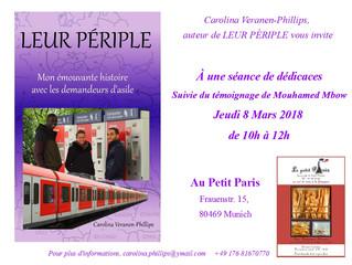 Séance de Dédicace au Petit Paris -   Jeudi 8 mars 2018