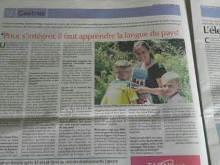 Meine Arbeit mit den Flüchtlingen aus Poing interessiert Frankreich auch.