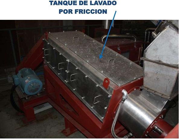 lavadora de friccion para plastico