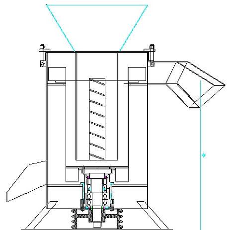 Centrifugadora secadora de plastico pet