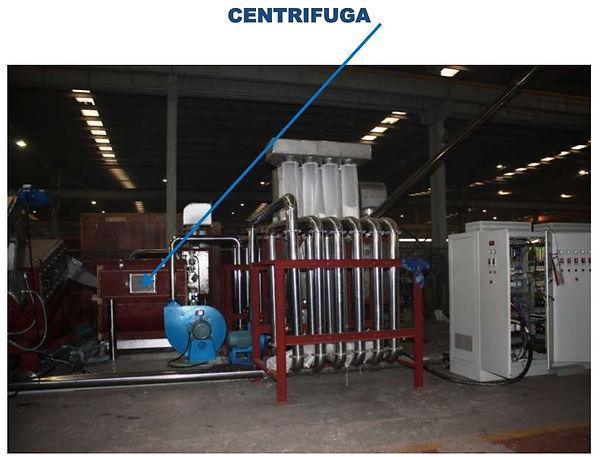 centrifugadora secadora para plastico
