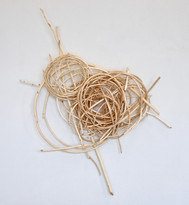 """Journey honored n/a 32"""" x  25"""" x  8"""" peeled willow Collection Lenehan Family 2011"""