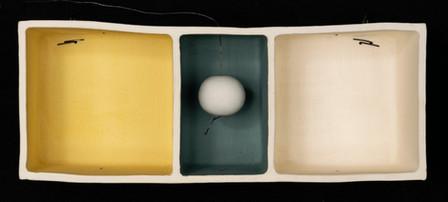 "Conversing in solitude 10.5""L x 4""H x 3.5""W ceramic box stoneware, porcelain, wire 2018"