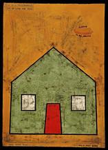 "Always in my dreams n/a 42"" x  30"" ink transfer, gouache Collection Janusz Kaminski 2004"