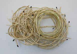 """Conjuring the perfect dream n/a 28"""" x  42"""" x  12"""" peeled willow Collection Janet Koike 2010"""