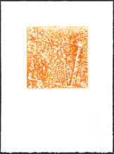"Freret St. #1 24"" x  18"" rust monoprint 2014"