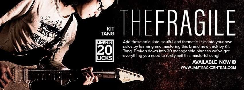 jtc, jamtrackcentral,kit tang,the fragile,lean in 20 licks,guitar instrumental