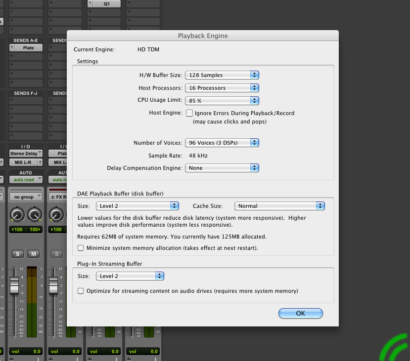 HD TDM,H/W Buffer size, protools, pro tools, playback engine