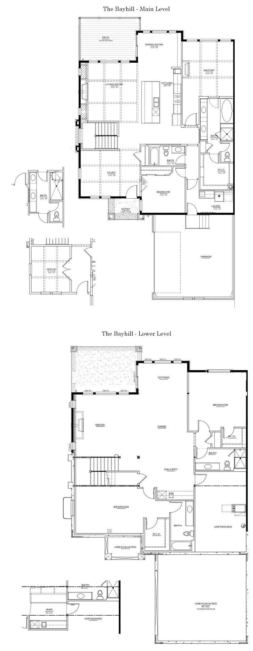 The Bayhill New Home Floor Plan - Castle Rock Colorado