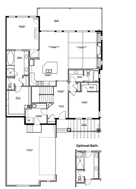 Augusta Model Main level New Home Floor Plan