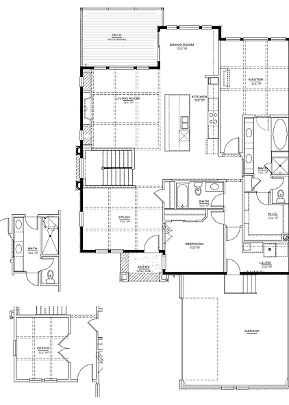 Bayhill Model Main level New Home Floor Plan