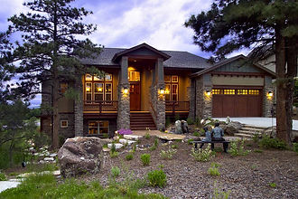 Stone Aspen New Luxury Modern Mountain Craftsman Custom Home Castle Rock Colorado