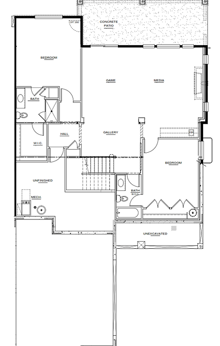 Augusta Model Lower level New Home Floor Plan