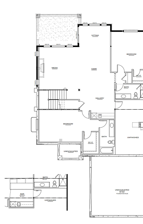 Bayhill Model lower level New Home Floor Plan