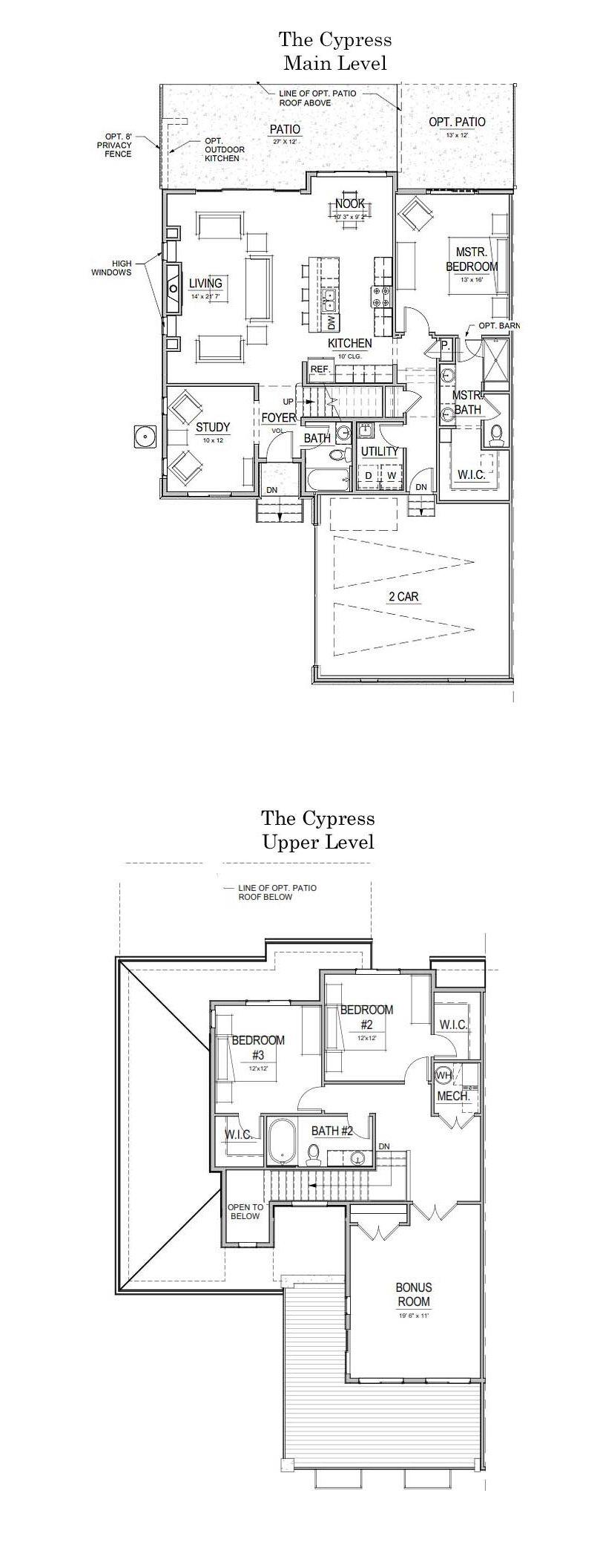 The Cypress New Home Floor Plan - Larkspur Colorado