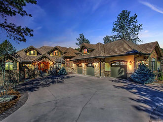 Stone Apen French Country Luxury Custom Home Castle Rock CO
