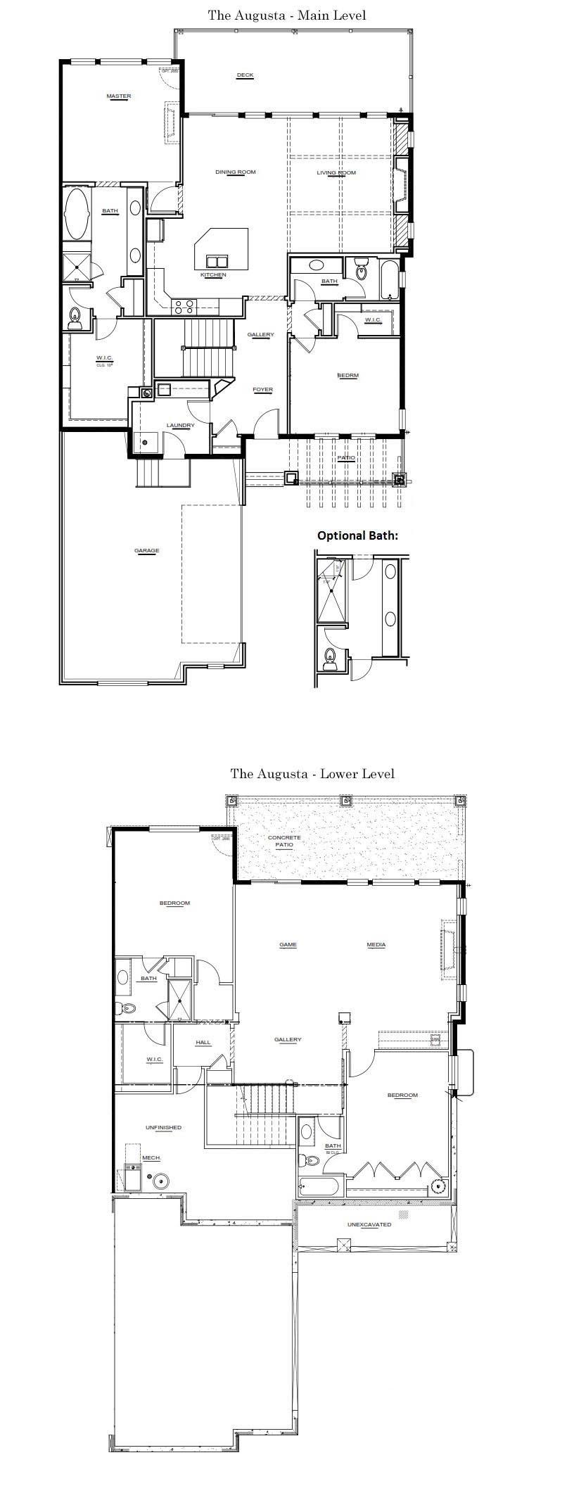 The Augusta New Home Floor Plan - Larkspur Colorado