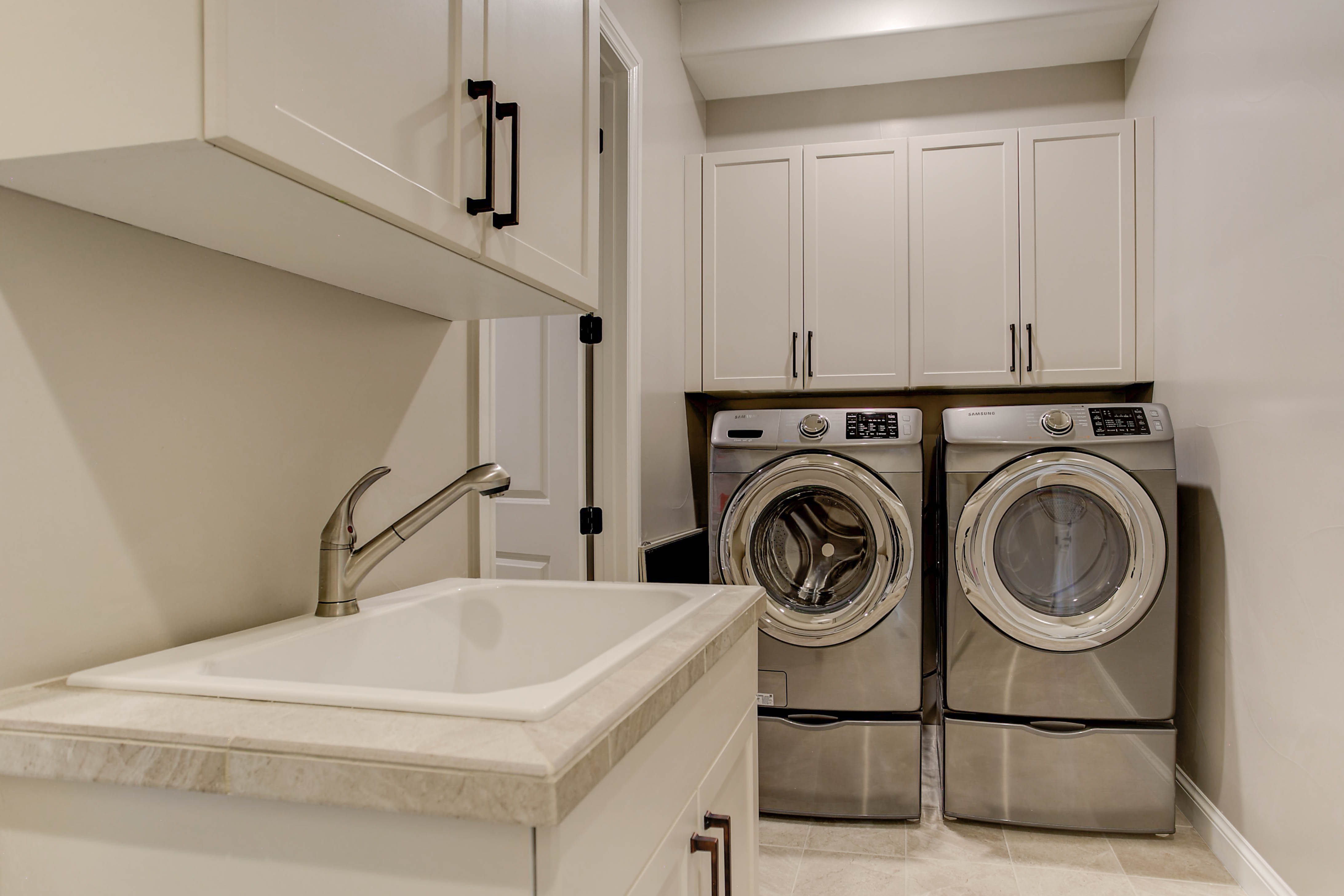 Laundry Room w/ Sink & Cabinetry