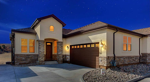 Main Level Master Bedroom New Custom Home Castle Rock Colorado