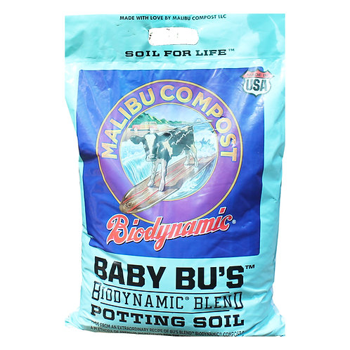 Malibu Compost Baby Bu's Potting Soil for Raised Beds, Containers, Pots & In-Ground Mixes. 12 quart bag.