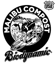 Malibu Compost Biodynamic black and white logo