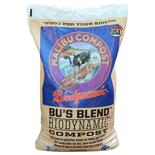 Malibu Compost Bu's Blend Biodynamic Compost, 1 cubic foot bag. Organic and GMO-free Compost.