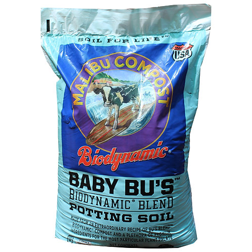 Malibu Compost Baby Bu's Potting Soil for Raised Beds, Containers, Pots & In-Ground Mixes. 1.5 cubic foot bag.