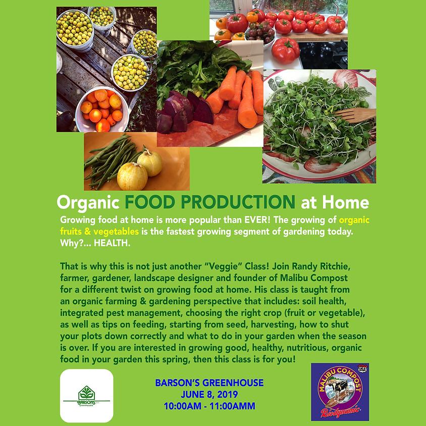 Organic Food Production at Home