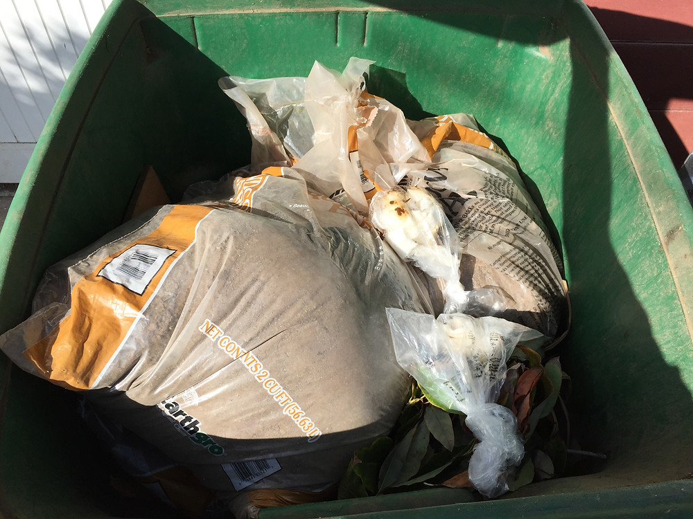 What items go into city green waste compost?