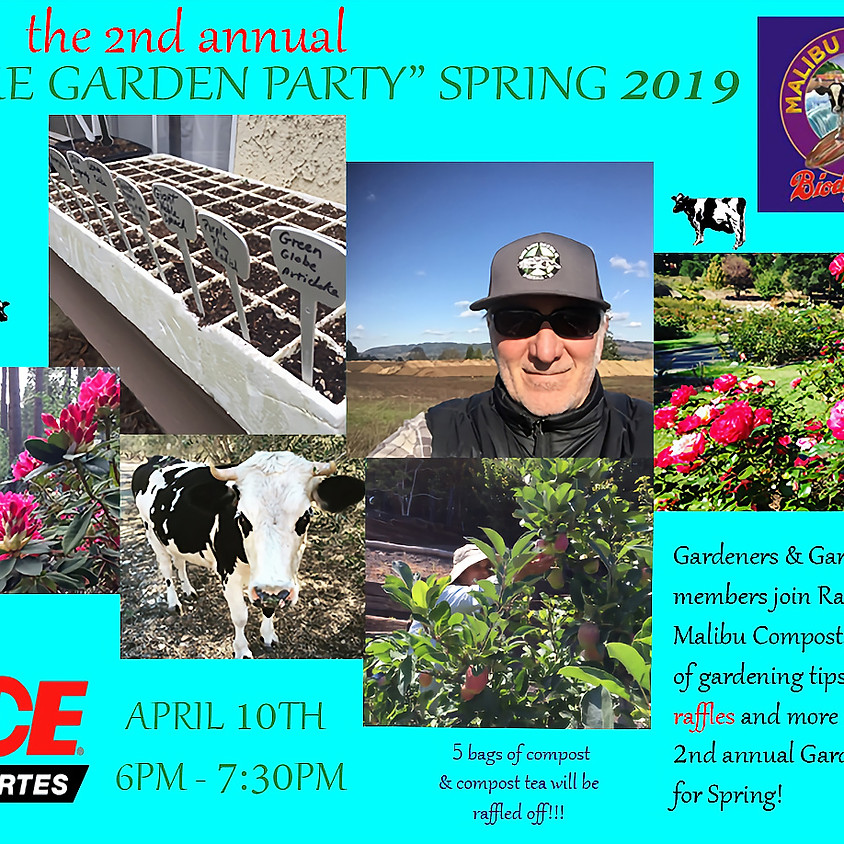 """The 2nd annual """"The Garden Party"""" Spring 2019!"""
